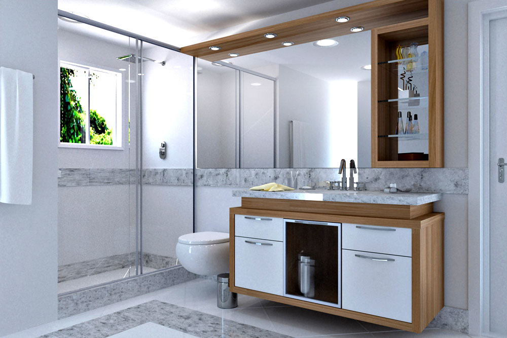 Móveis Planejados em Itanhaem, Ambientes Planejados Itanhaem, loja de moveis  -> Banheiro Feminino Planejado